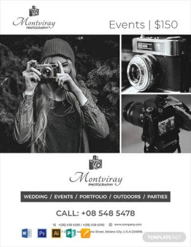 free event photography flyer