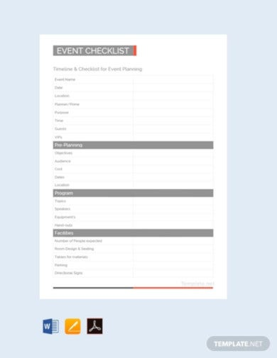 free event planning checklist template1