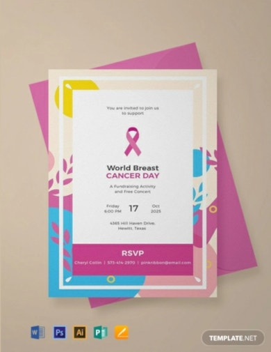 free fundraising invitation template
