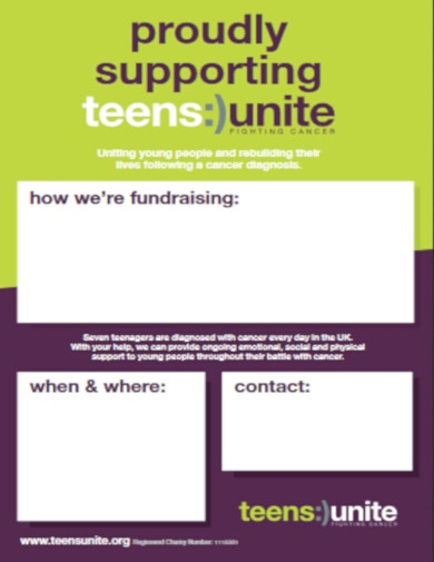 free fundraising poster template