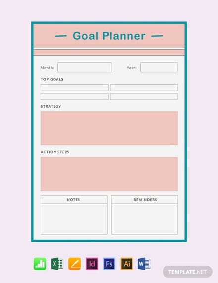 free goal planner template 440x570 11