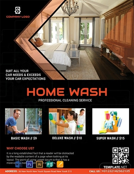 free home cleaning service flyer template 440x570 1