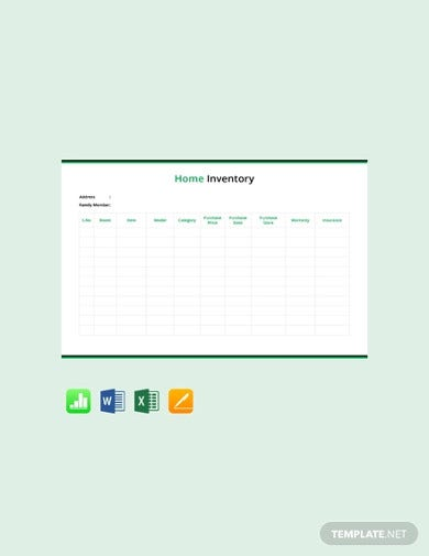 free home inventory template1