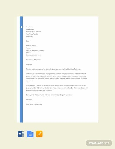 10+ Best Medical Cover Letter Templates - Google Docs, Word ...