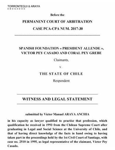 free legal statement template