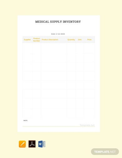 free medical supply inventory template1