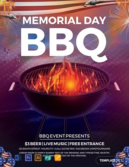 free memorial day bbq flyer template 440x570 1