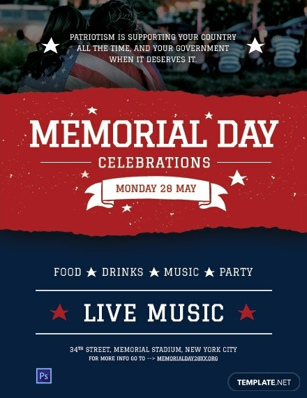 free memorial day flyer template 440x570 1