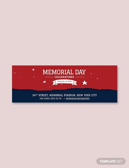 free memorial day tumblr banner template1