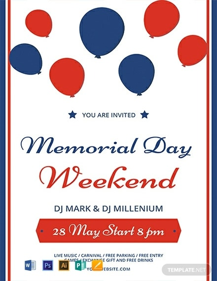 free memorial day weekend flyer template 440x570 1