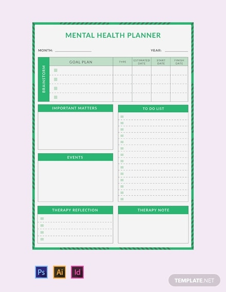 free mental health planner template 440x570 1