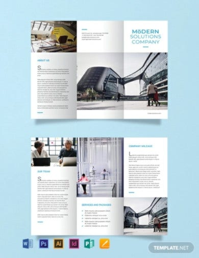 free modern company brochure template