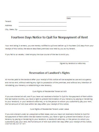 free notice letter to tenant template