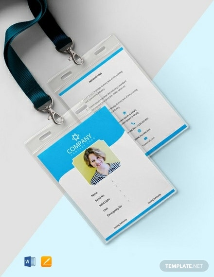 free photo blank id card