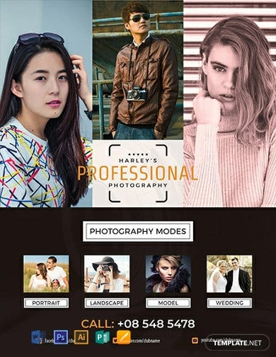 free professional photography flyer template2