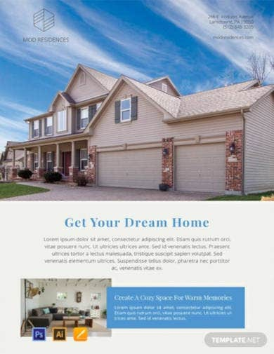free real estate advertising poster