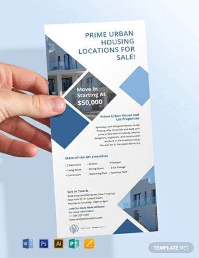 free real estate agency rack card