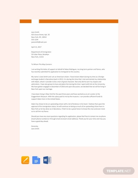 8  Immigration Reference Letter Templates