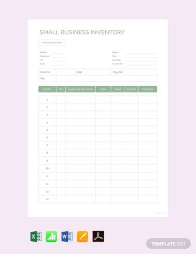 free small business inventory