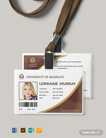free student id card template