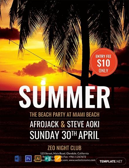 free summer beach flyer template 440x570 1