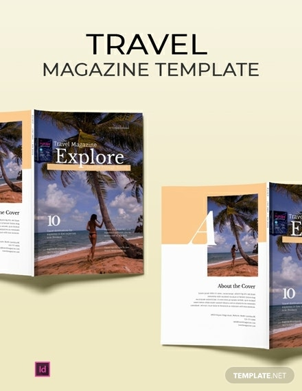 free travel ad magazine template