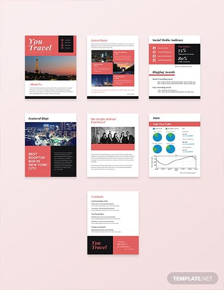 free travel blog media kit template