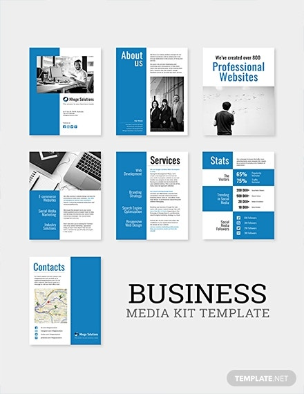 free travel business media kit template
