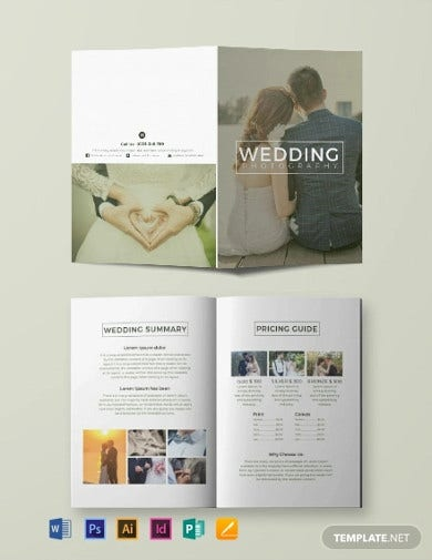 free wedding photography bi fold brochure template1