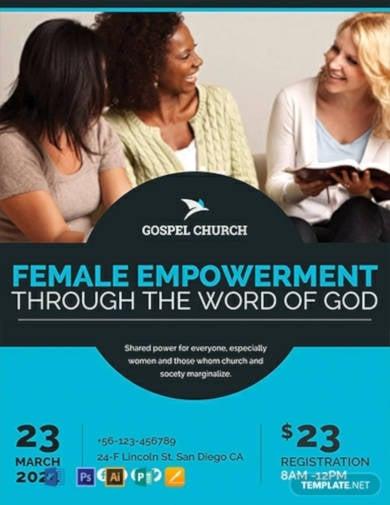 free-women-church-flyer-template