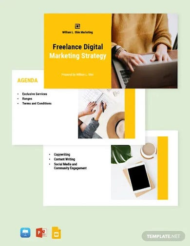 freelance marketing presentation template