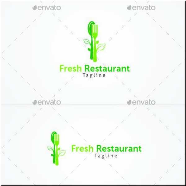 fresh greens restaurant logo sample