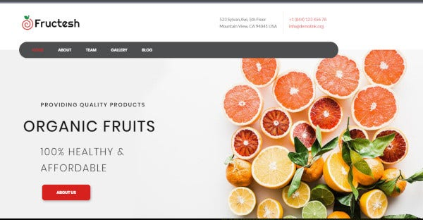 Fructesh – SEO Optimized WordPress Theme