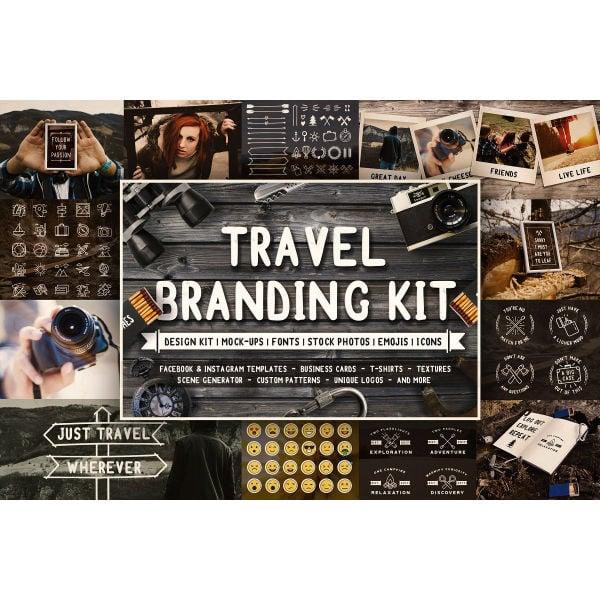 full travel branding kit templates