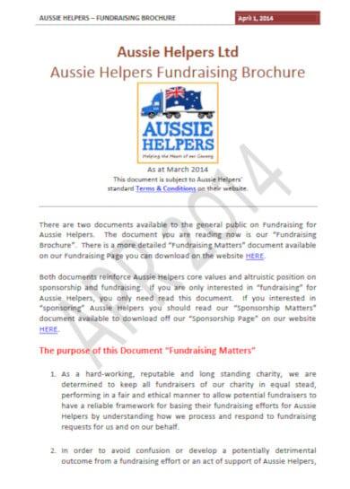 fundraising brochure format
