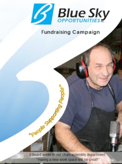 fundraising campaign brochure example