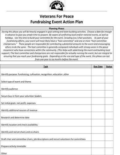 10  fundraising action plan templates