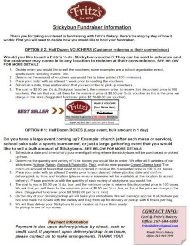 fundraising information voucher template
