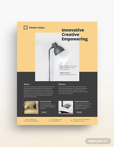 furniture company flyer template