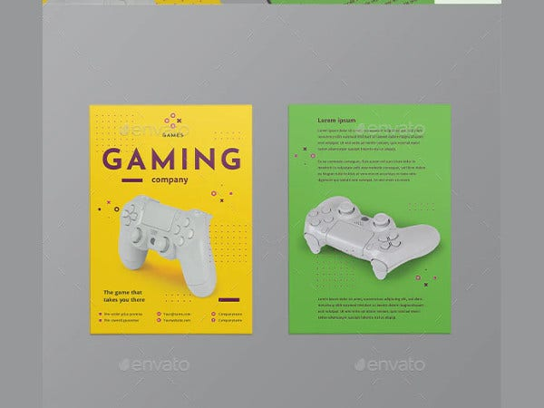 gaming company flyer