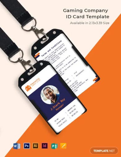 gaming company id card template1
