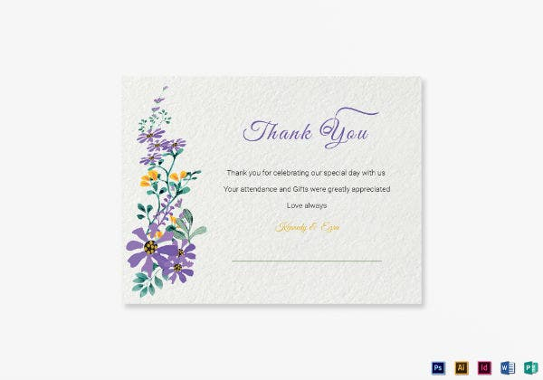 garden thank you note card template