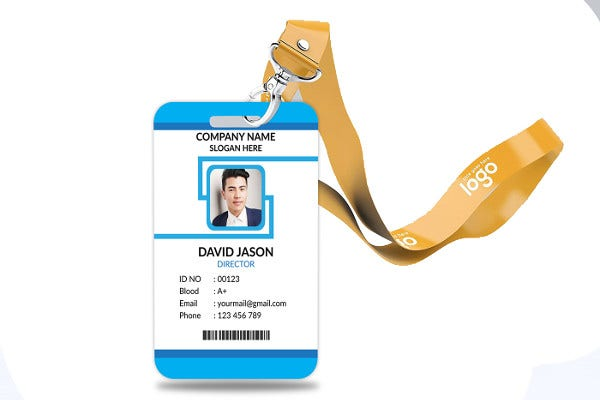 general company id card