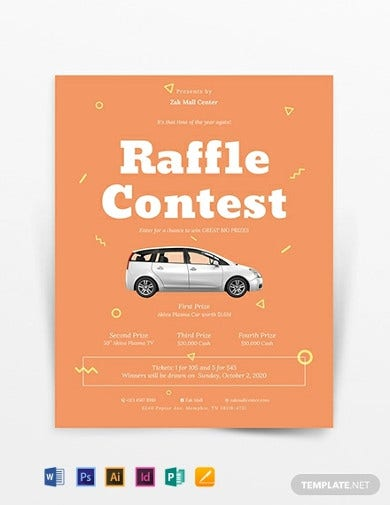 general fundraiser raffle flyer template1