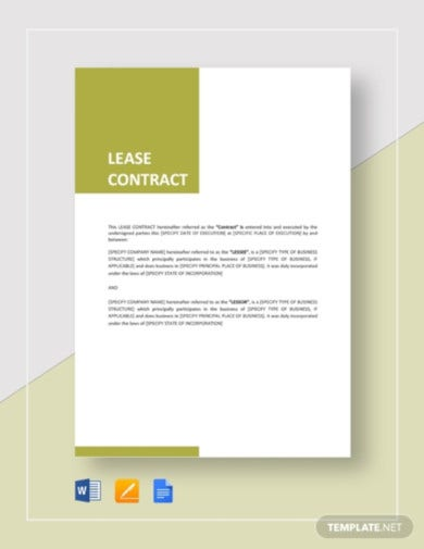 general lease tenant agreement template