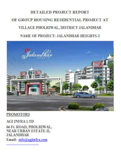 general real estate project report