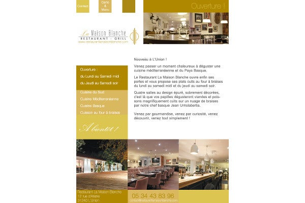 general restaurant email template