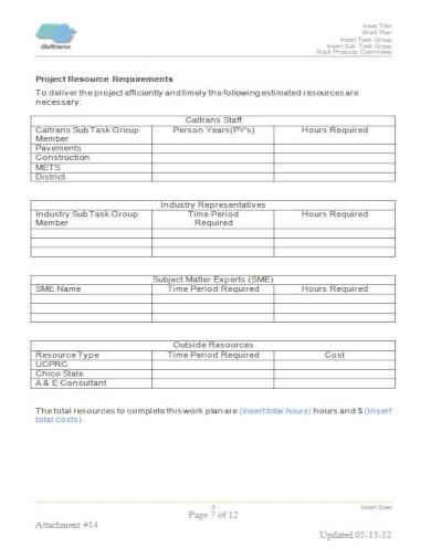 generic construction work schedule template