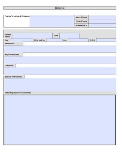 generic doctor referral form