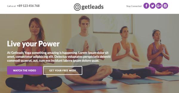 Get Leads - Shortcode ready WordPress Theme